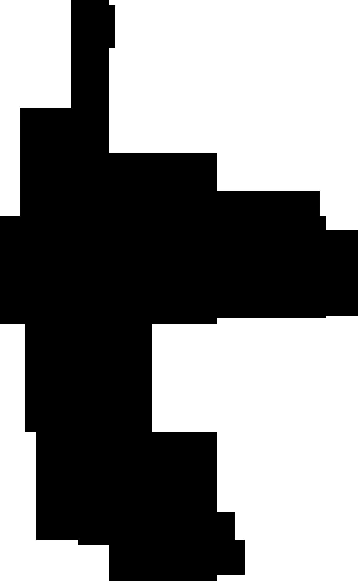 Silhouette shadow logo spread. Clipart rock word