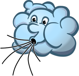 Cape clipart wind. Vector image of blue