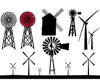 Cape clipart wind. Windmill silhouette etsy svg
