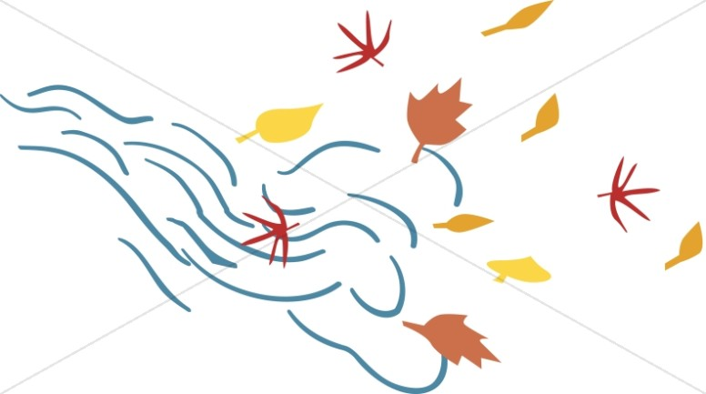 Cape clipart wind. Leaves blowing in the