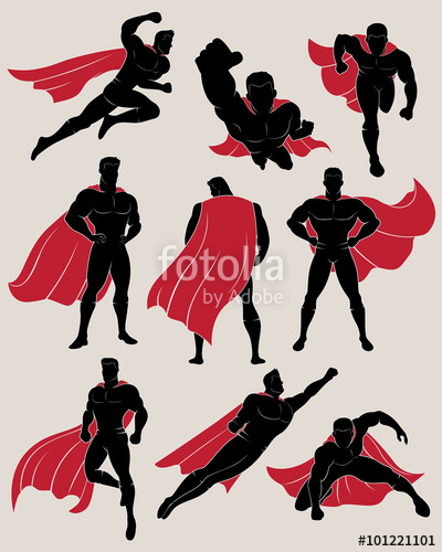 collection of superhero. Cape clipart wind