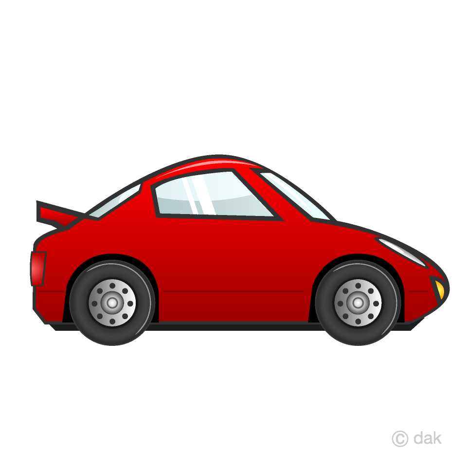 Car clipart. Red sports free picture