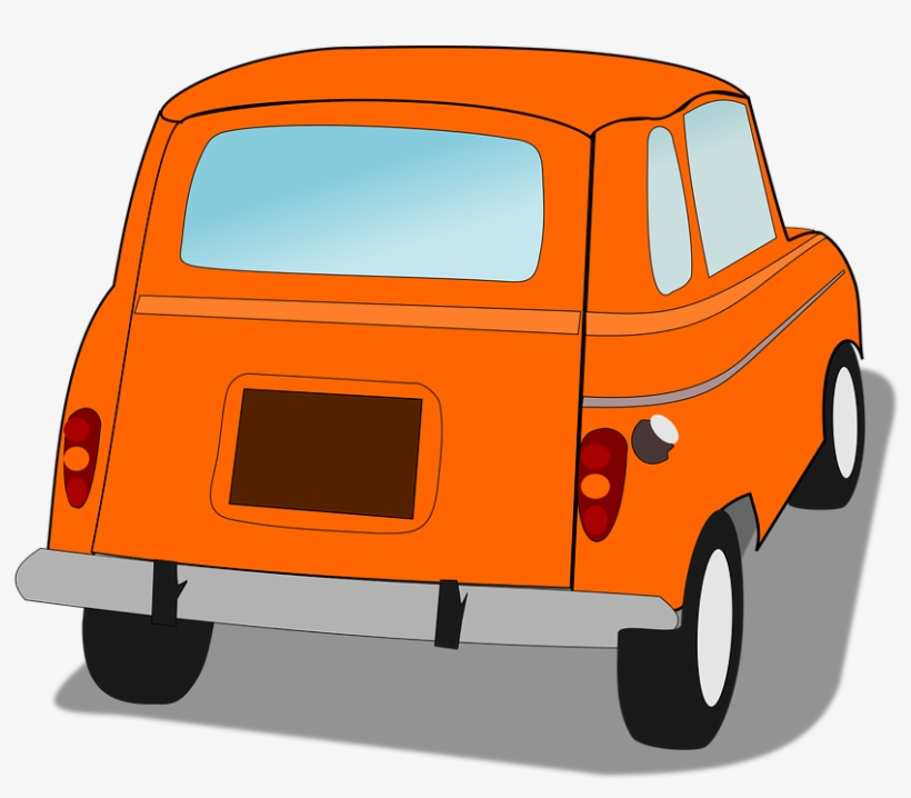 Back view of car. Cars clipart backside