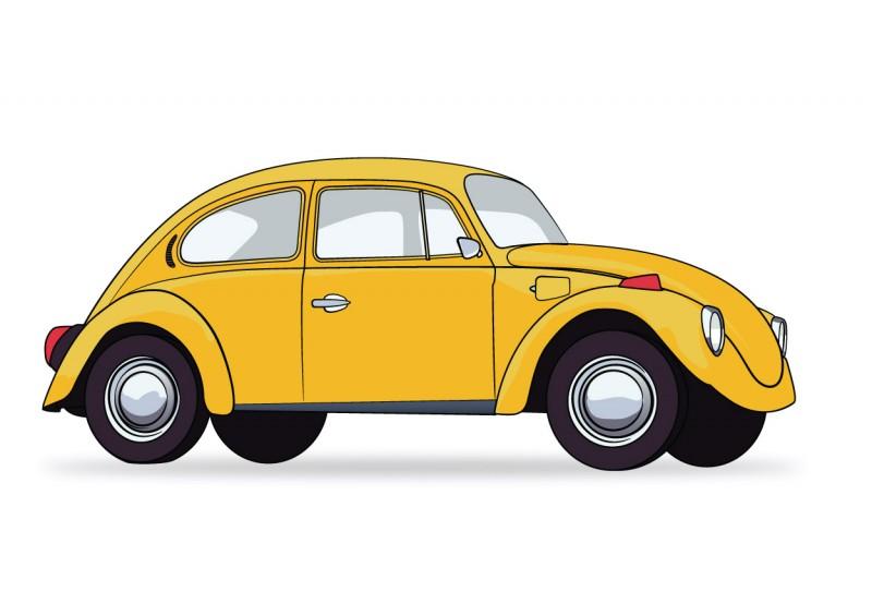 Beetle clipart car. Yellow vw