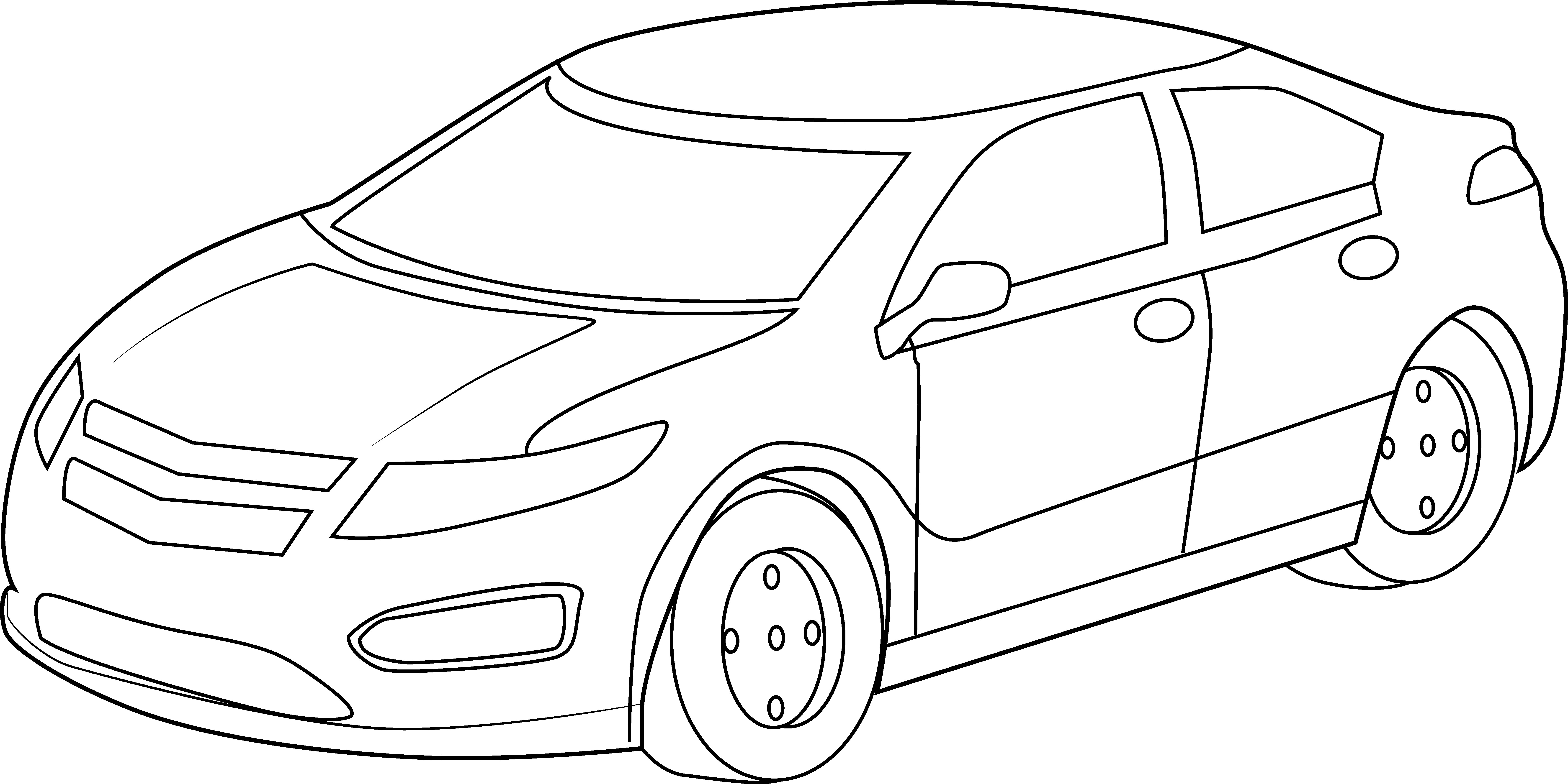 Clipart cars outline. Car black and white