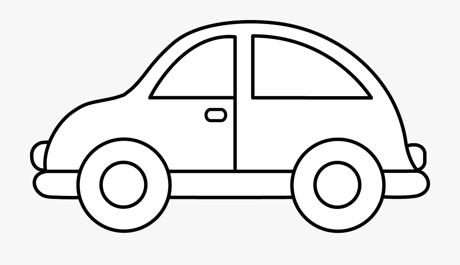 Clipart cars black and white. Toy car clip art