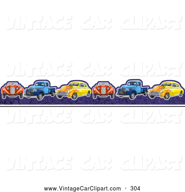 Of a border vintage. Cars clipart borders