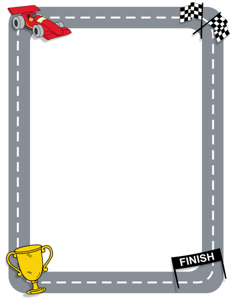 Page border featuring racing. Cars clipart borders