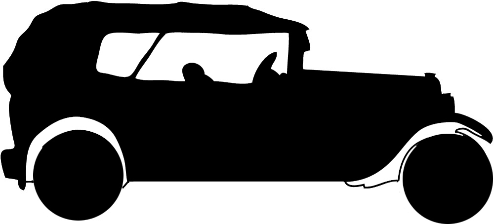 Silhouette . Cars clipart clear background