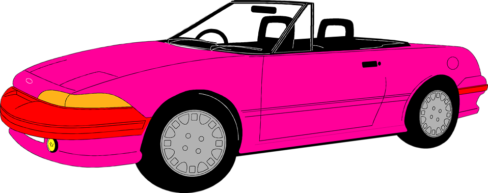 Convertible free stock photo. Clipart cars pink