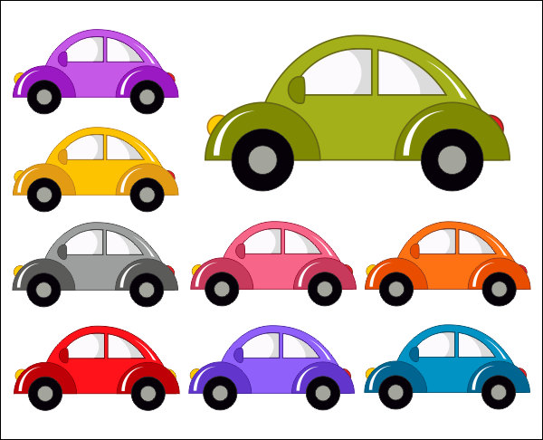 Cars clipart vector. Cute car