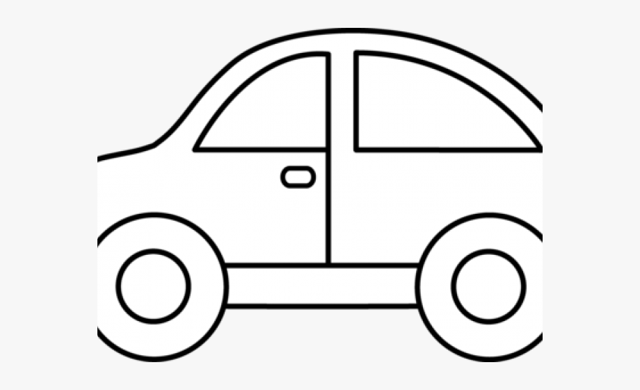 Black and white car. Clipart cars easy