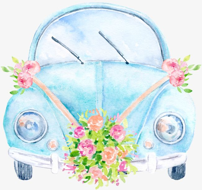 Clipart cars flower. Wedding car flowers png