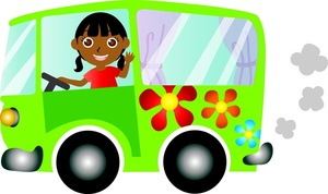 Free driving image groovy. Car clipart flower