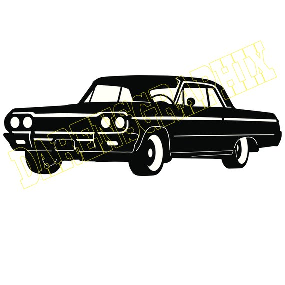 Dxf file products . Clipart car impala