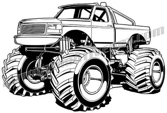 Car clipart monster.  ford f truck