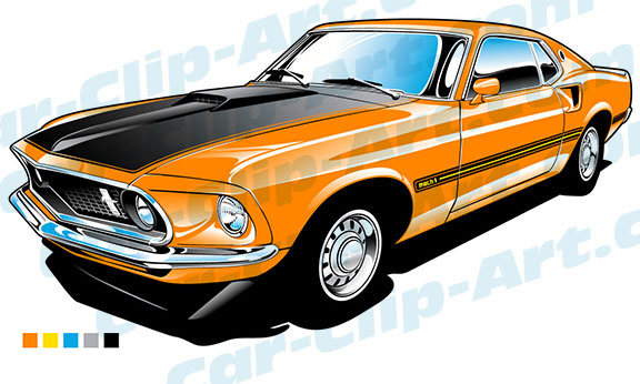 ford mach vector. Mustang clipart muscle car