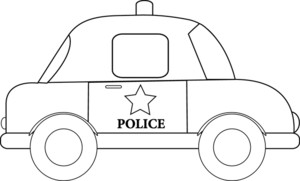 Free police image truck. Car clipart outline