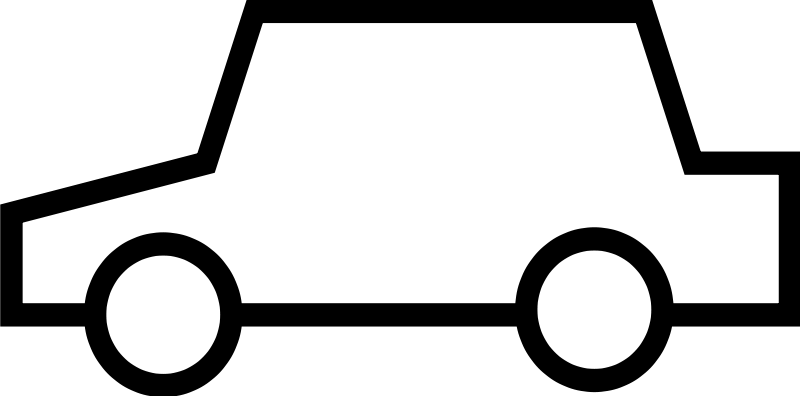 Pictures simple car outline. Clipart cars easy