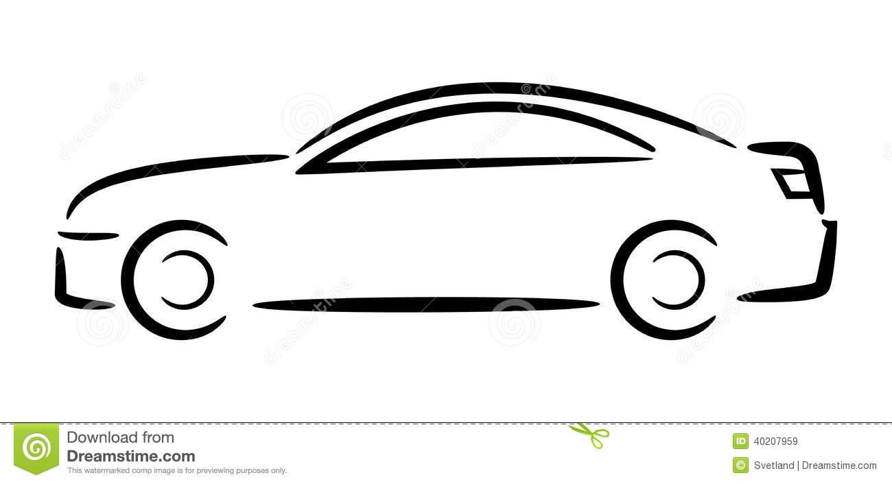 Auto . Car clipart outline