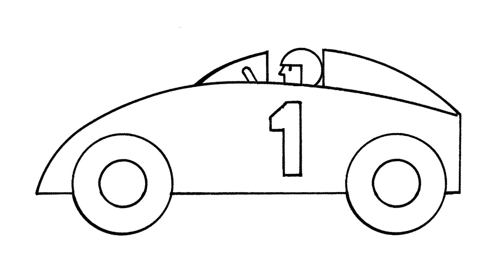 Car clipart outline. Race