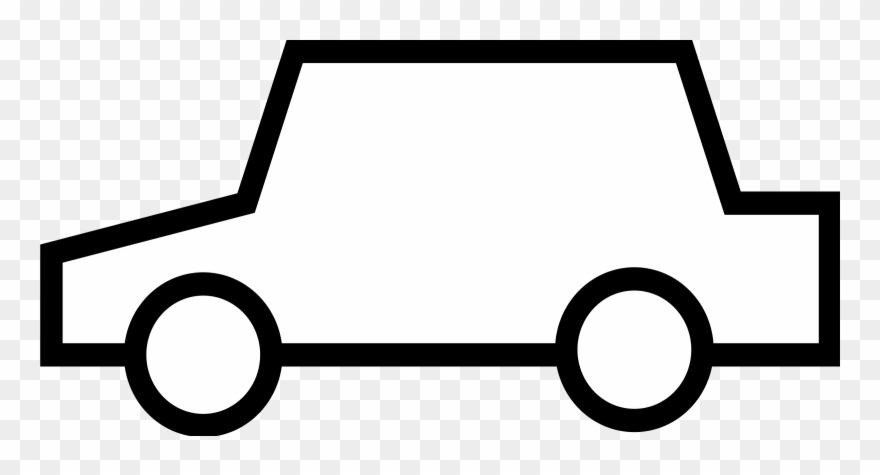 Car clipart outline. Vehicle pictures black and