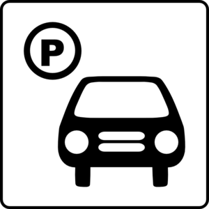 Hotel icon has clip. Parking lot clipart street parking