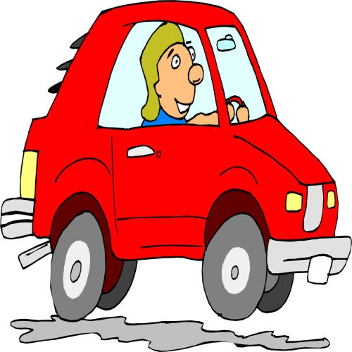 In a car clip. Driver clipart person