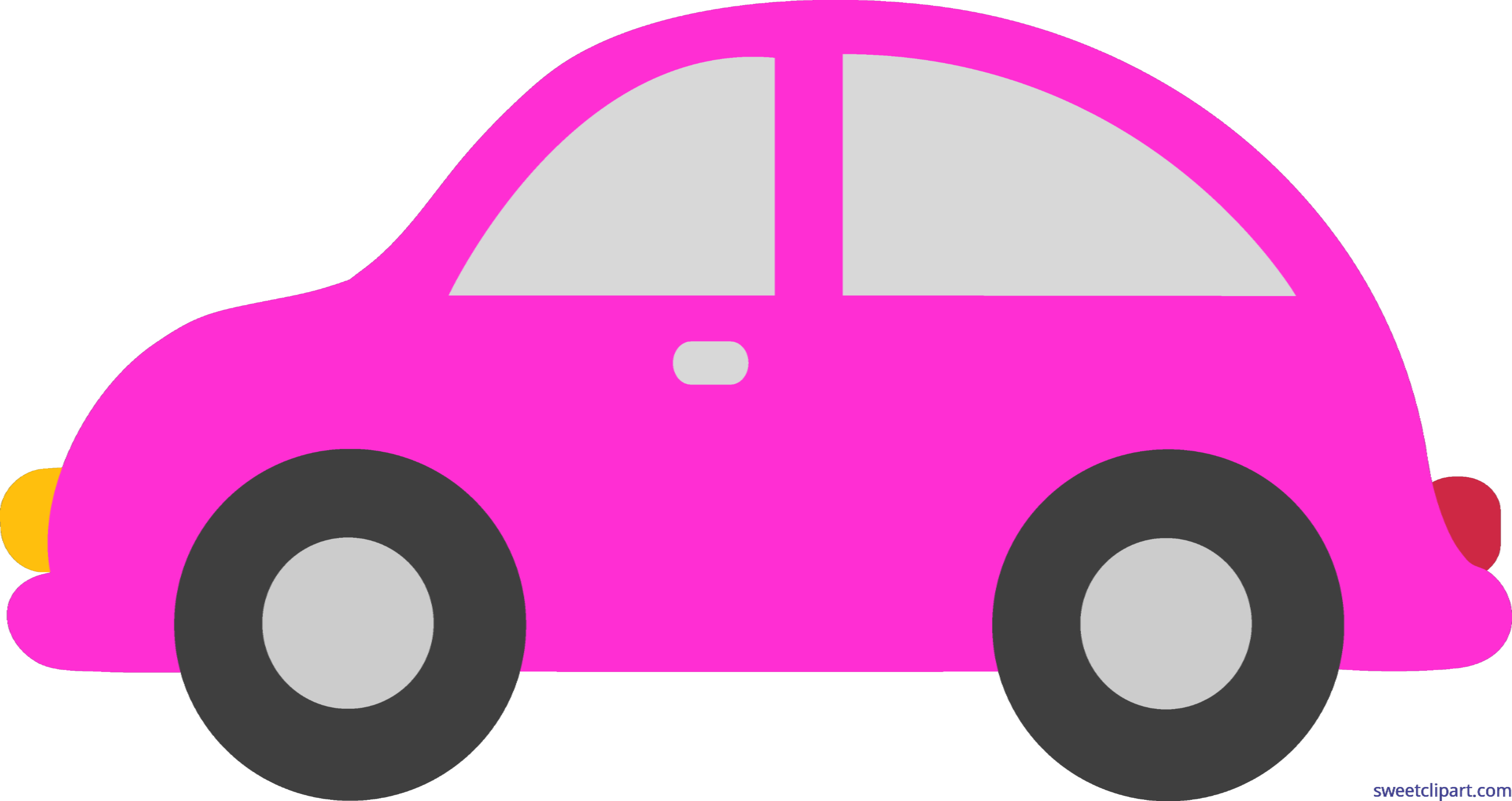 Toy by liz clip. Driving clipart pink car