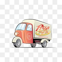 Clipart cars pizza. Delivery car png vectors