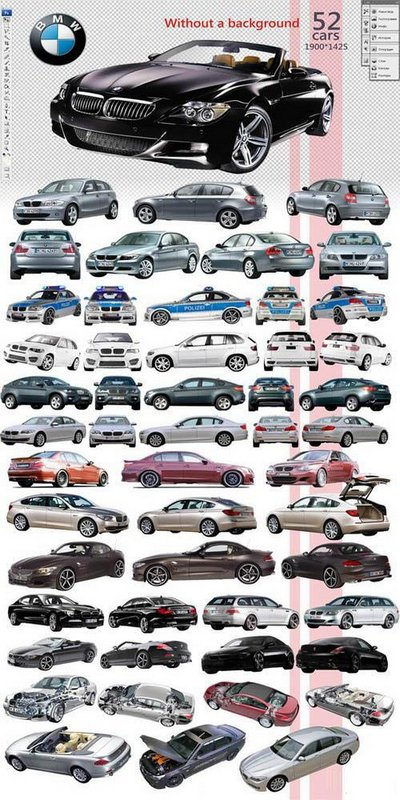 Cars clipart psd. Bmw free file layer