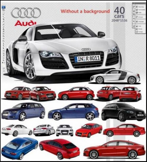 Audi free file download. Cars clipart psd