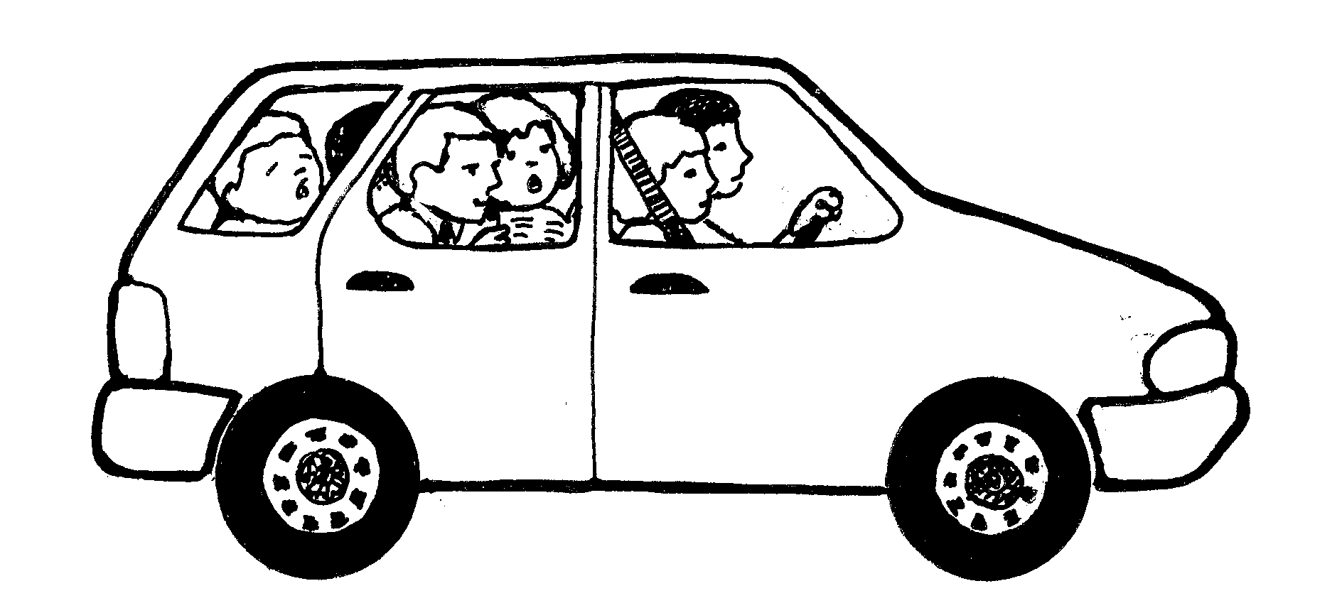 Clipart cars family car. Panda free images carclipart