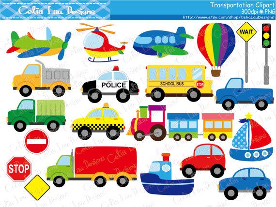 Clipart plane car. Transportation taxi school bus