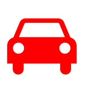 Car clipart silhouette. Red clip art at