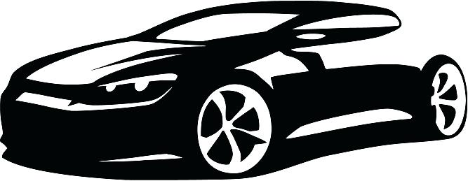 Car clipart silhouette. Sport at getdrawings com