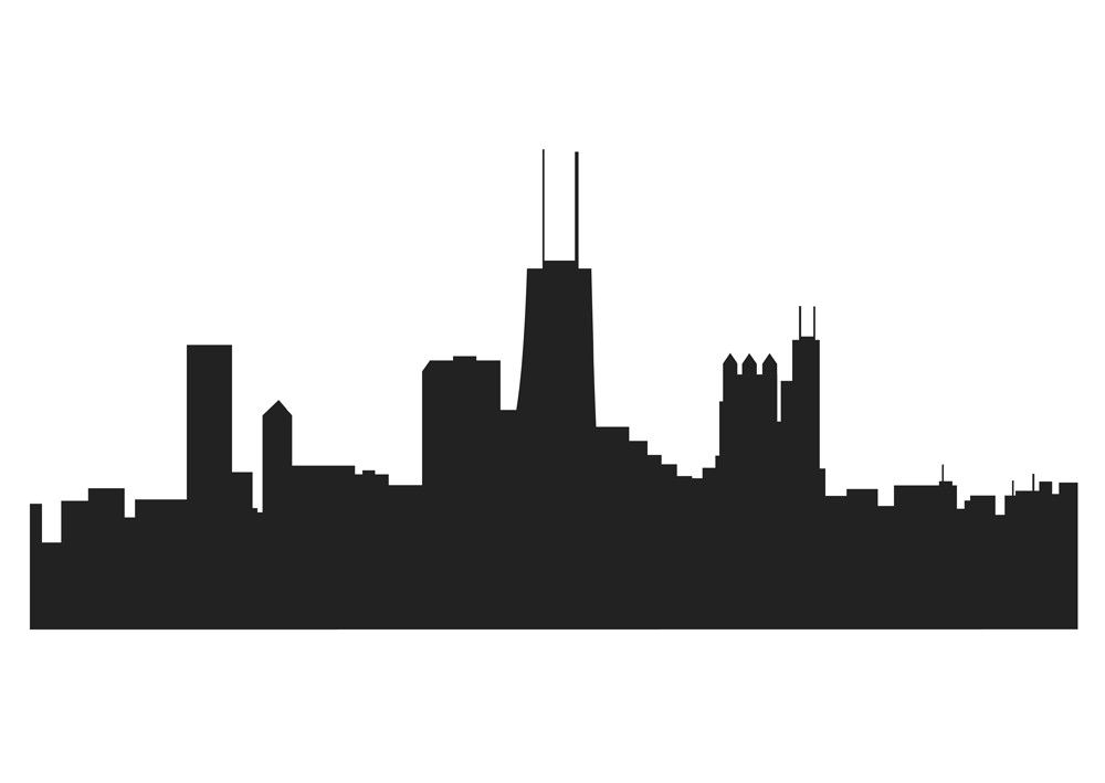 Skyline clipart chicago downtown. Drawing best projects
