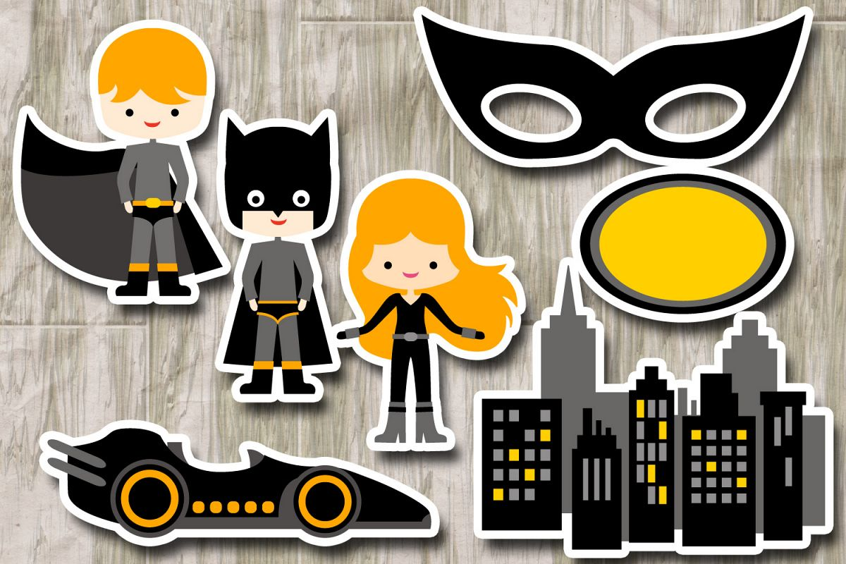 Black mask city buildings. Car clipart superhero