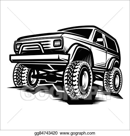 Vector stock car off. Cars clipart suv