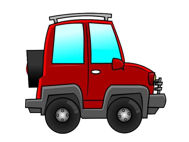 Cars clipart suv. Red