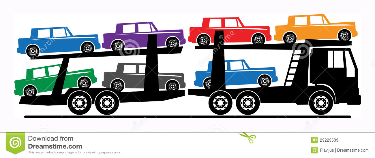 Car transport truck . Cars clipart transporter