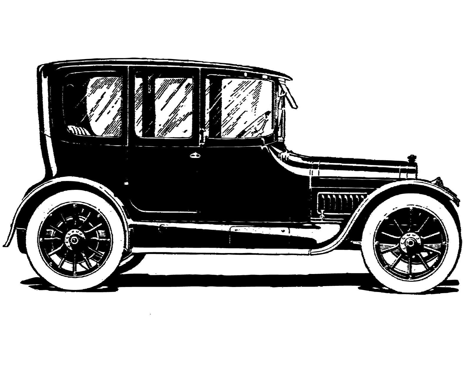 Free vintage clip art. Cars clipart classic