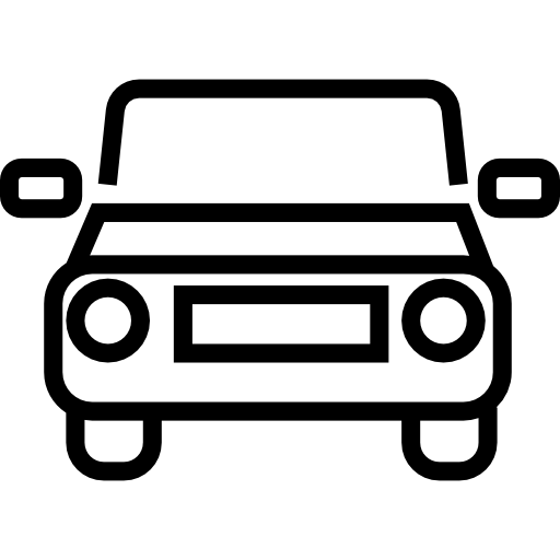 Car vector png. Outline frontal view free