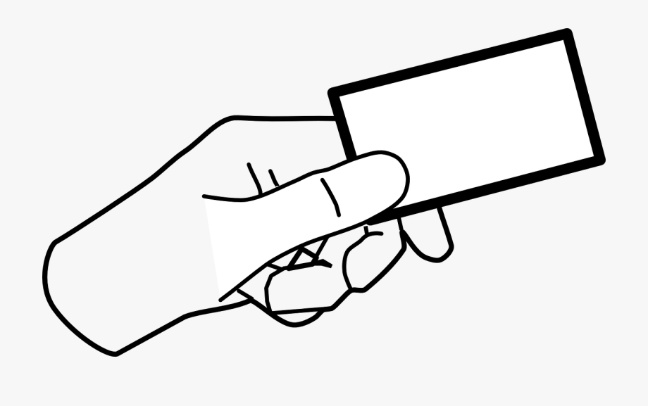 Card clipart. Business hand holding