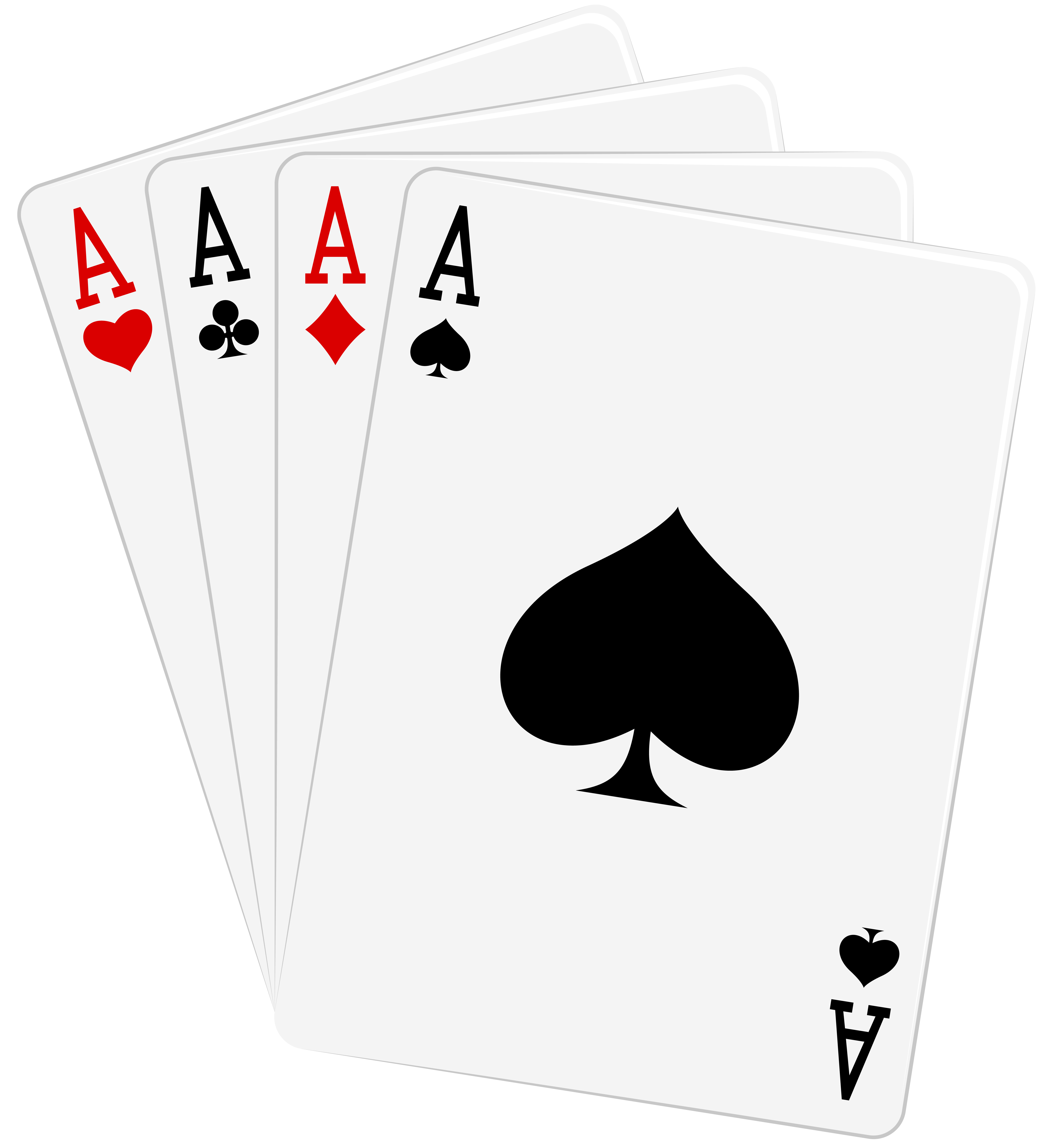 Games clipart deck card. Four aces cards png