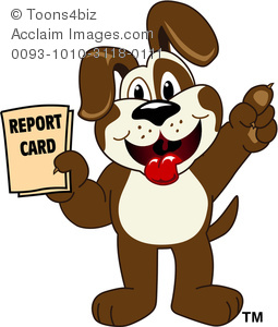 Cartoon puppy holding a. Cards clipart animated
