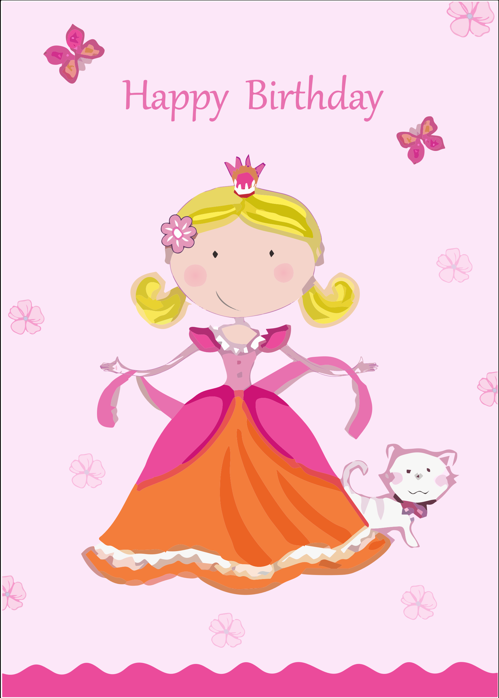 Birthday card big image. Cards clipart animated