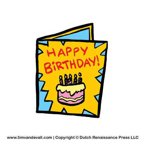 cards clipart birthday card