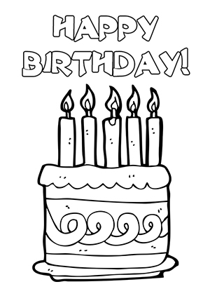 Cards clipart black and white. Free birthday card