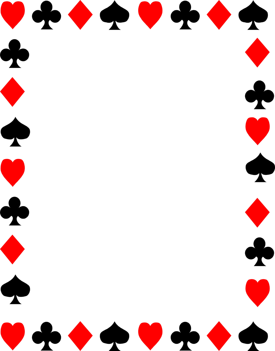 Queen of hearts card png. Playing cards borders clipart